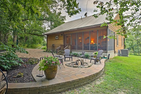 Makanda Cabin w/Deck in Shawnee National Forest!