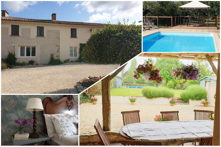 Les Cerisiers, 5 bed gîte with pool