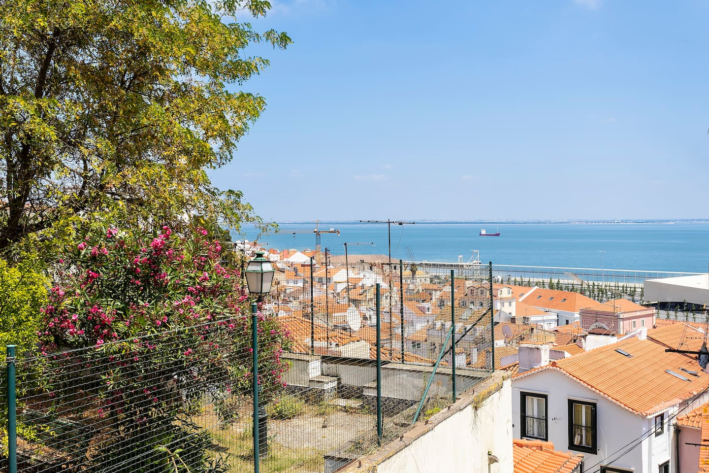 View over Alfama's rooftops and the river
