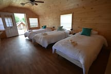 3 Cottages with 3 single beds
