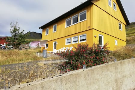 Bright Yellow House 2 With a fantastic view