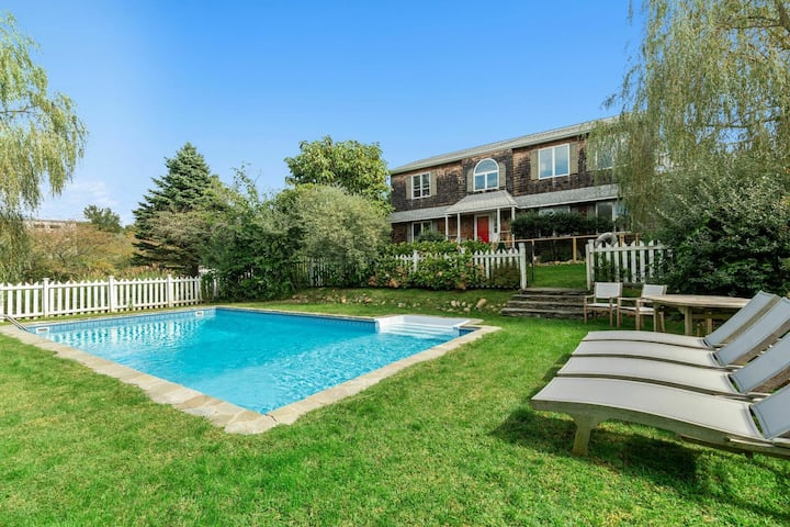 Montauk family retreat with pool. Seasonal Listing