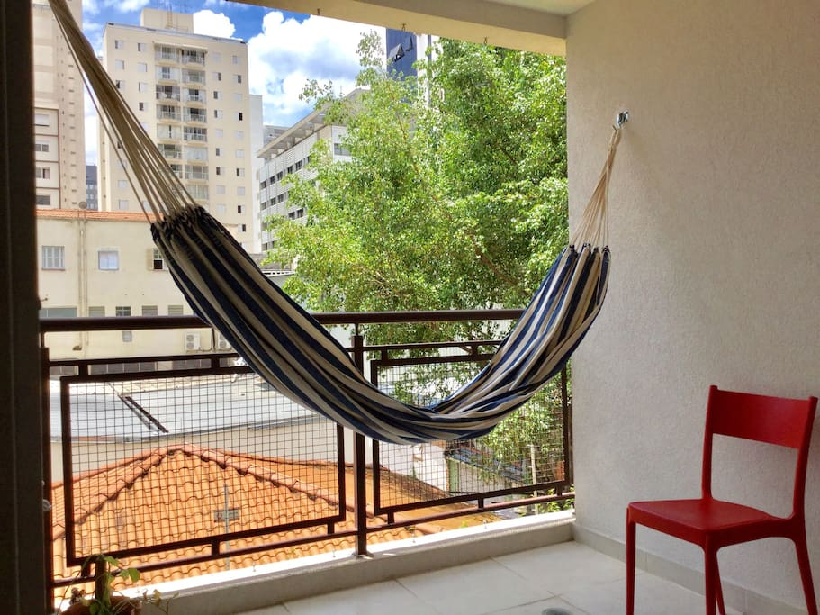 * The balcony with a hammock for sunny days*