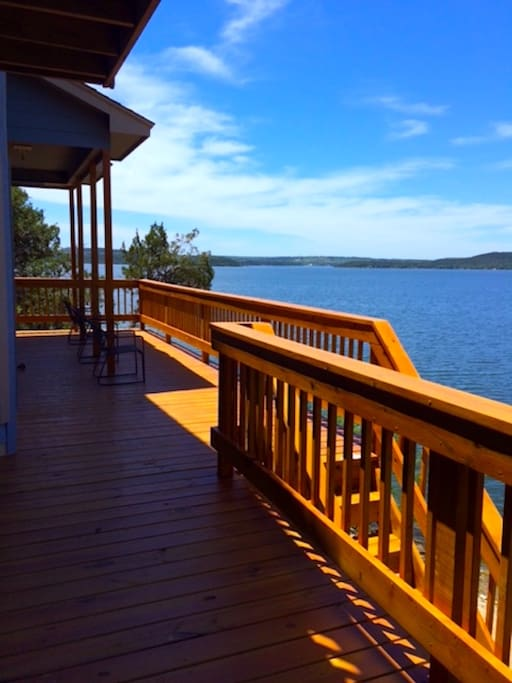 Our expansive lake view from our deck.