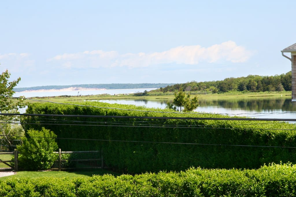 View of Great Peconic Bay from living / dining area and deck