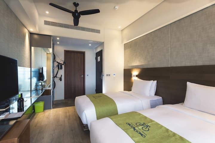 KADDA HOTEL精緻兩單床A(2人房)含早餐/海景/無邊際泳池/單車免費租借