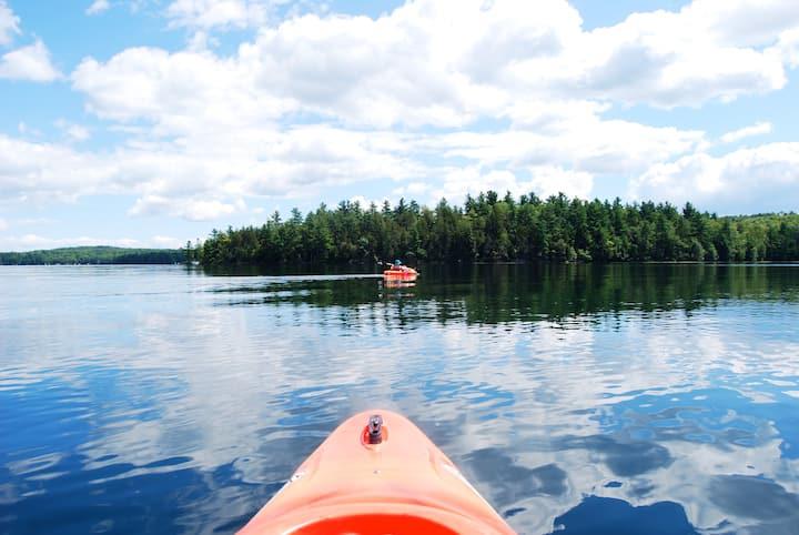 Log Cabin, Family fun, adventure on Lake StGeorge!