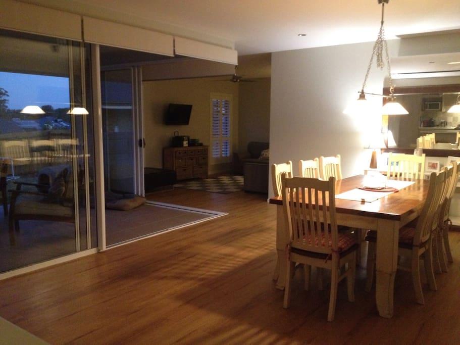 Open plan kitchen, diner, rumpus and alfresco