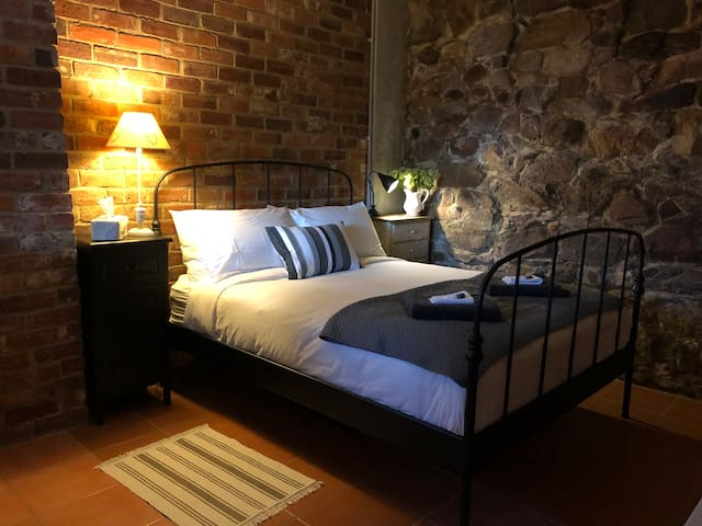 Stunning Country Bedroom with Queen bed.  Beautifully warm & cosy