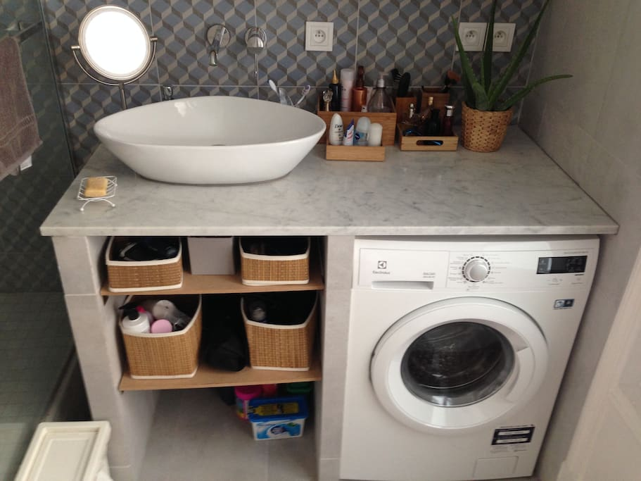 Bathroom with washer