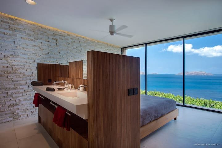 Step into the bedroom, where the view is just as stunning.