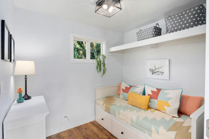 Second bedroom has a daybed that converts to a queen