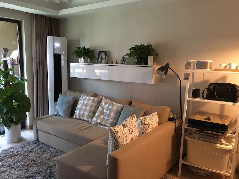 Living Room (air condition/printer/sofa bed)
