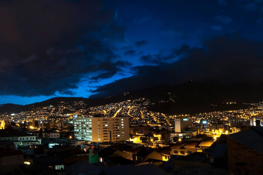 This amazing view from our terrace. This is what you will see every time you visit our kitchen. Quito on its best.