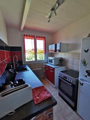 Petit appartement lumineux en co propriété