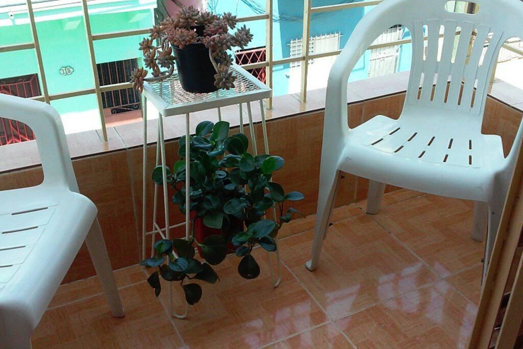 Balcón del departamento