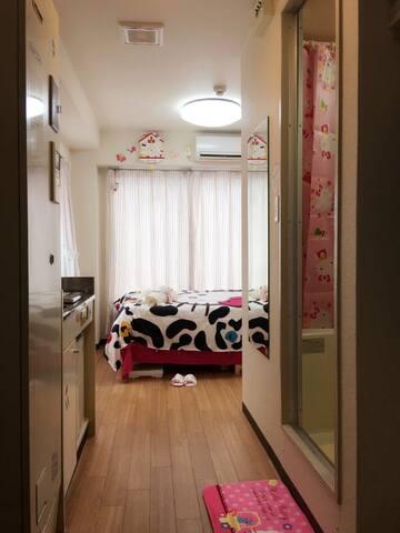 依伊酱の部屋へようこそ!難波、心斎橋、道顿堀、黒門市場、日本橋徒歩圈内 - Osaka - Apartament
