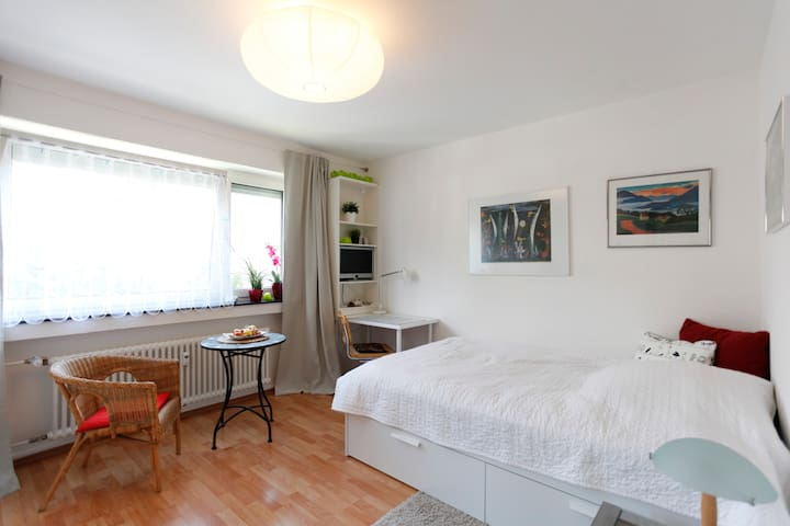 Feel good in a pretty room 20 min. from Frankfurt