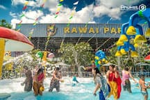 Rawai water park, a 10 minute drive from our villas. Your kids will love it there and they have a restaurant there also.
