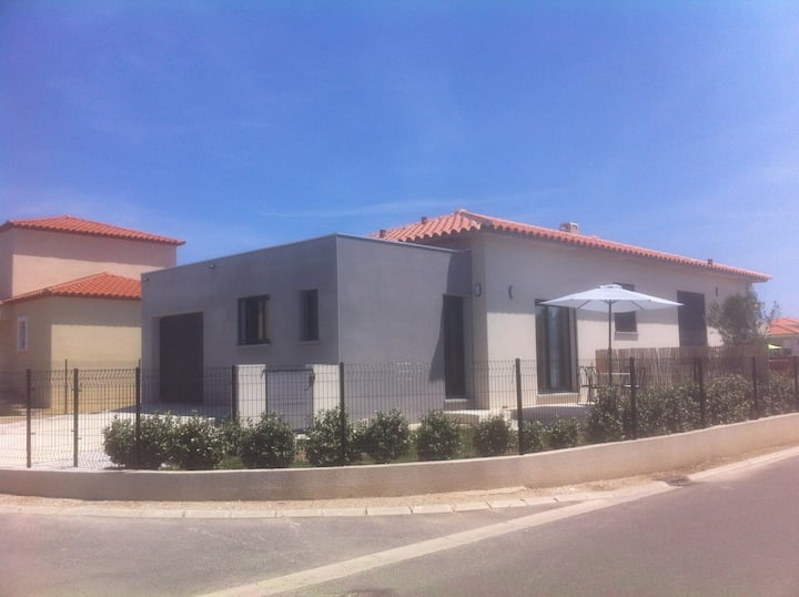 Villa 3 pièces climatisée, 4 pers calme 4 Km plage