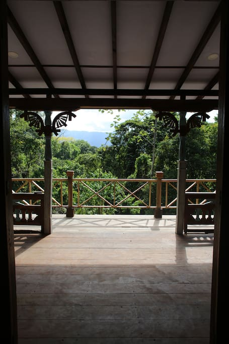This is the veranda where you can enjoy the jungle around you.