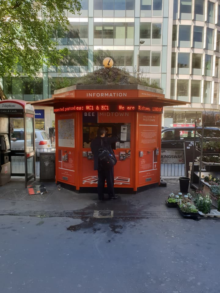 The meeting point outside Holborn tube