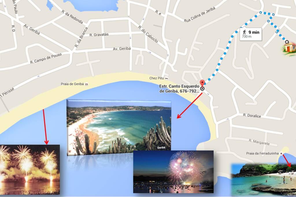 700metros da praia a pé! Ótima localização, próximo aos principais pontos turísticos da cidade!