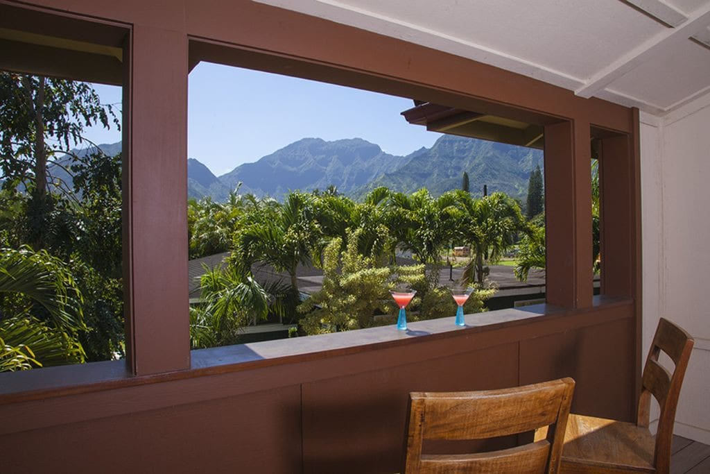 Mountain view from covered dining room.