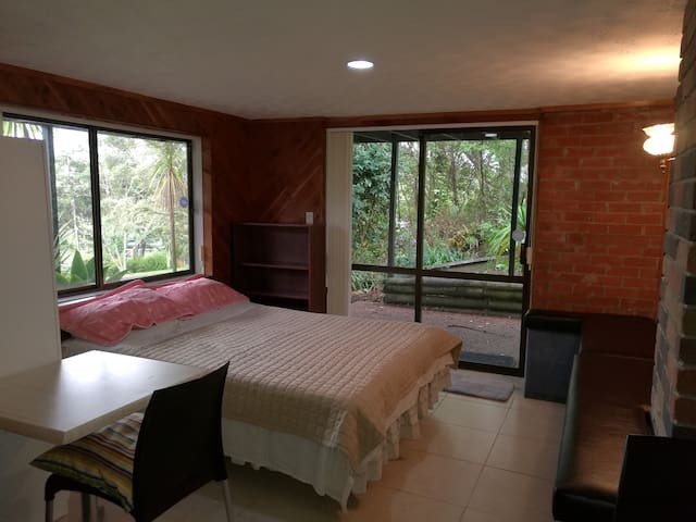 Queen Bed in a Bush View House - Auckland - Villa