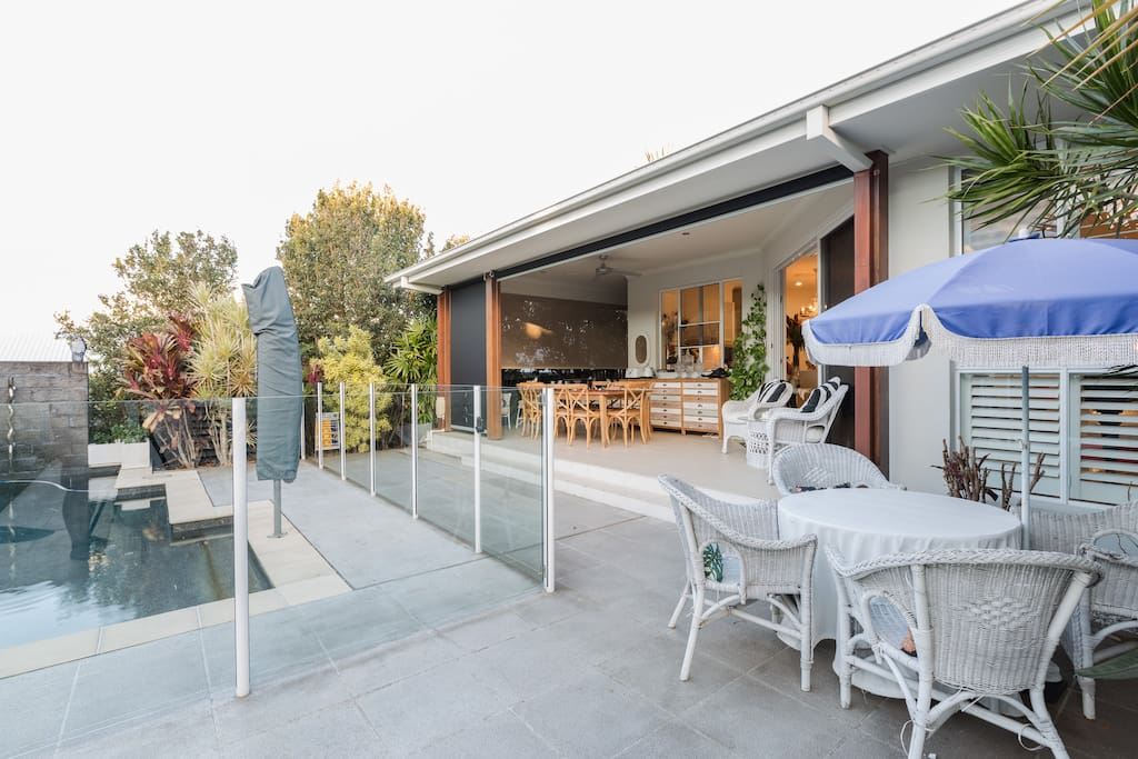 Pool and outdoor entertaining area
