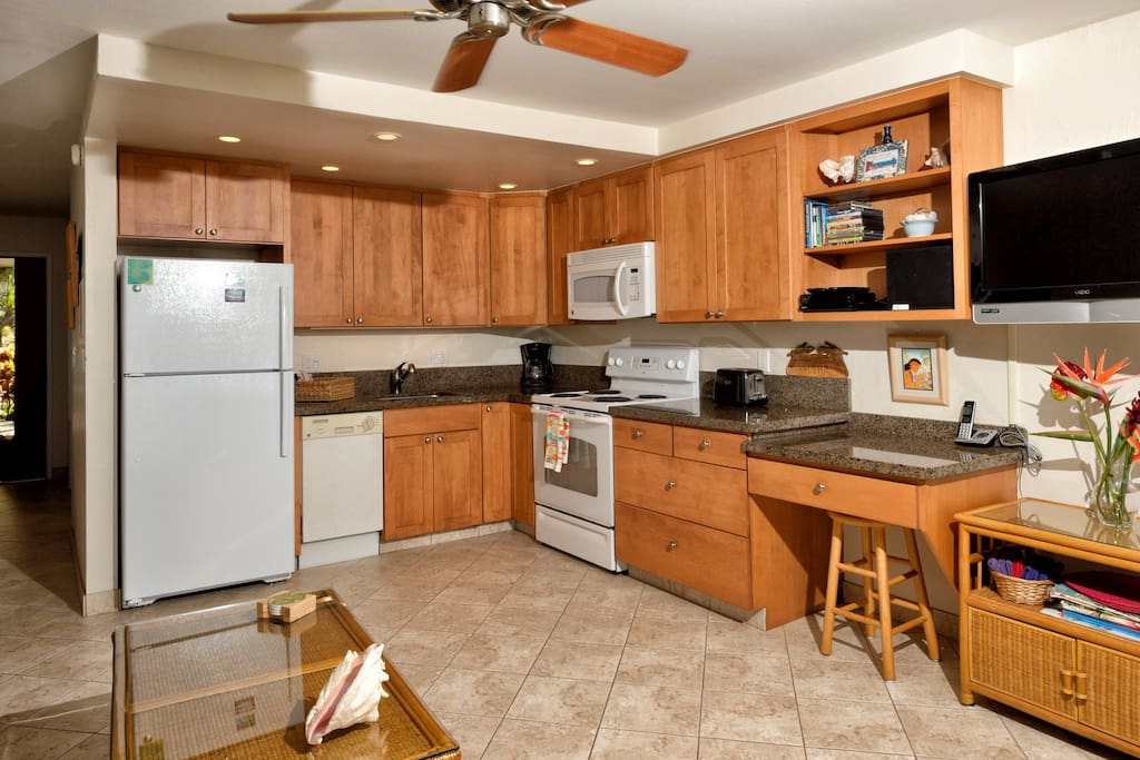 Full kitchen provides all you'll need to prepare and serve meals