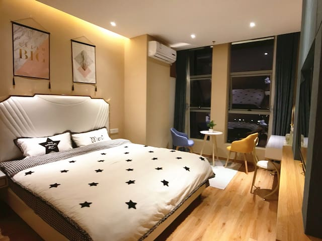 【乐途House 】万达/师院/ins温馨舒适大床房