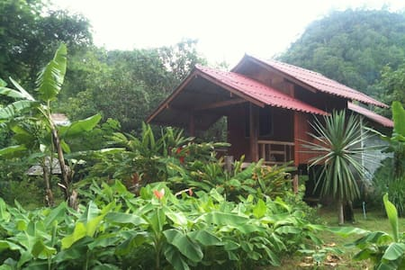 TEAK WOOD HUT IN A LUSH GARDEN - Tham Lot - Bed & Breakfast