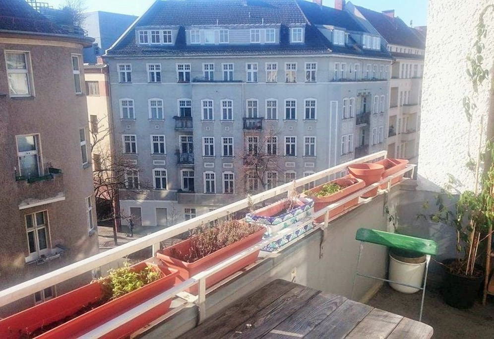 Big sunny balcony of your room