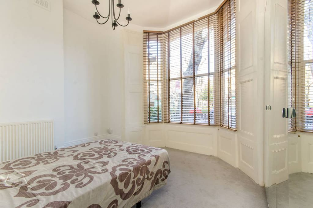 Traditional bay window in the bedroom