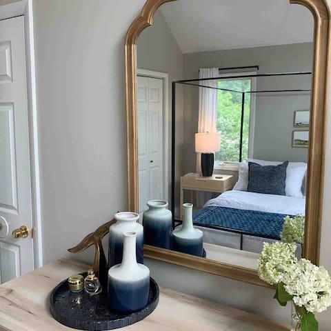 Master bedroom's dresser and mirror