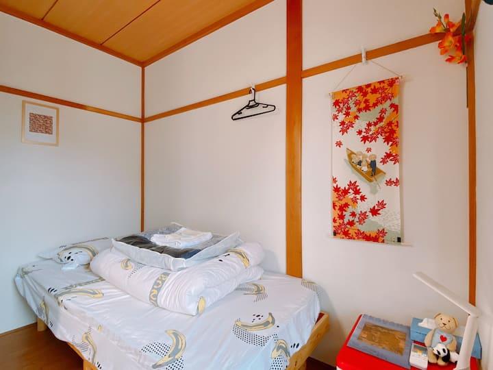 宇治單人間-兩張單人床-距離平等院步行3分鐘-電車直達京都奈良-不另外收清潔費稅費