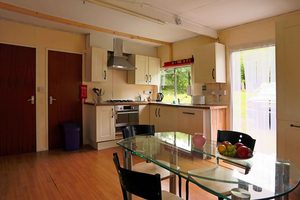 Generous well equipped Kitchen Dining area