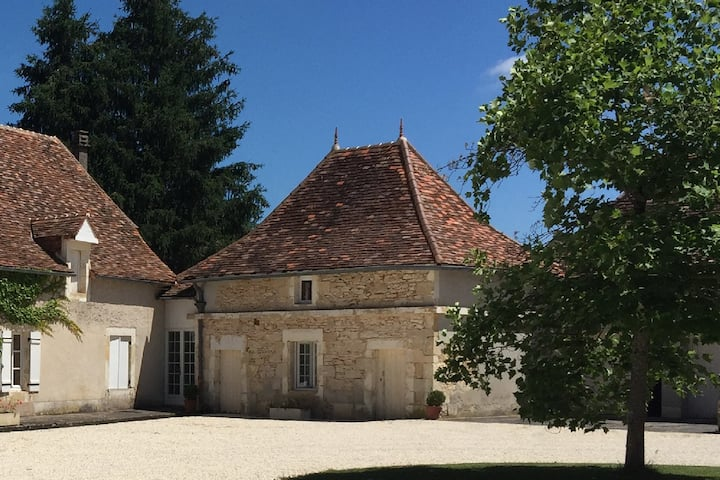 Dovecote cottage with huge shared pool