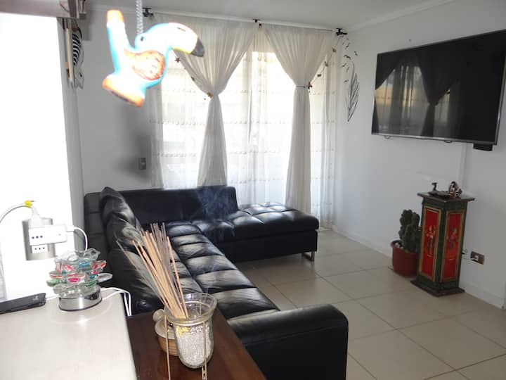 Apartamento Chinchorro Beach 4 min a pie de playa.