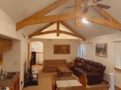 Spacious, private Loft with heated garage.