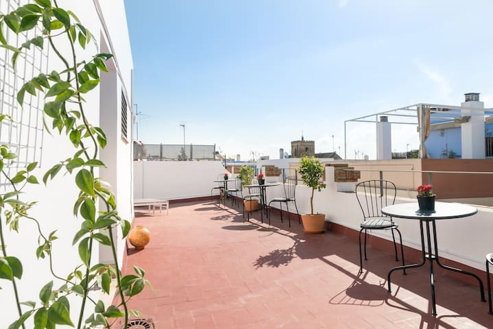 Shared Terrace (Only for 4 apartments) Terraza compartida Solo para 4 apartamentos