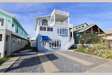 Beach 1703 - the View from this Ocean front 5 Bedroom rooftop patio is Spectacular - Flagler Beach