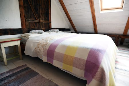 Cosy cottage bedroom with a balcony - Krupina