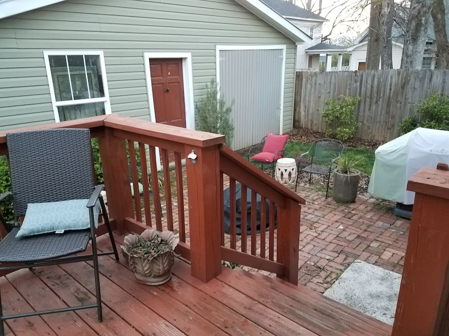 Deck, patio, grill and fire circle if you please!
