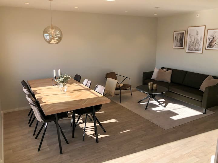 Large (110sqm) and modern apt. 20 min from Drammen