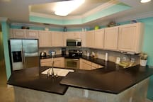 Kitchen with 2 level counter