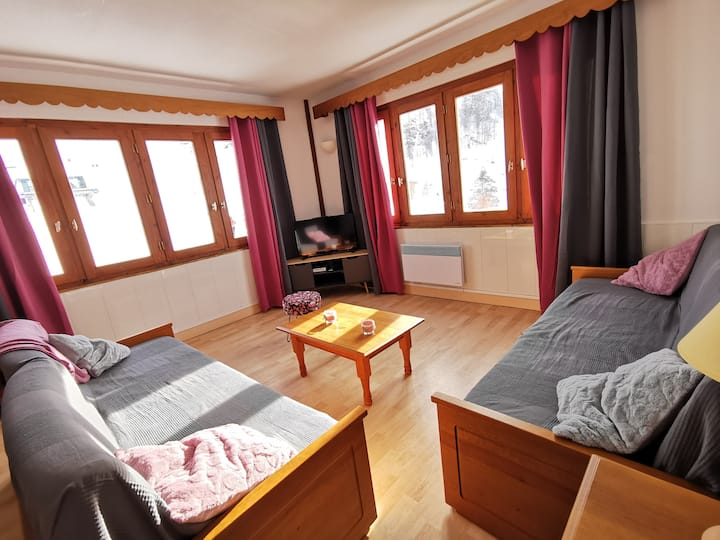 Appartement spacieux guzet neige