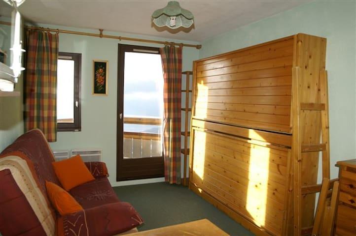 Studio avec balcon au pied des pistes - Les Adrets - Apartamento