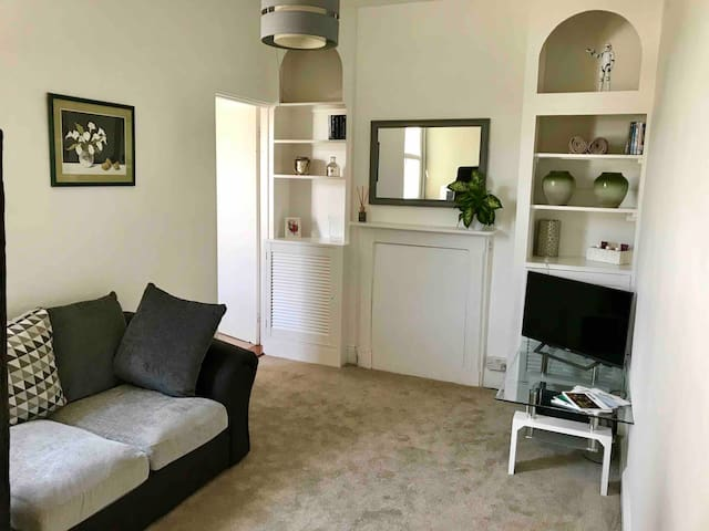 Room with private lounge and bathroom in St Helier